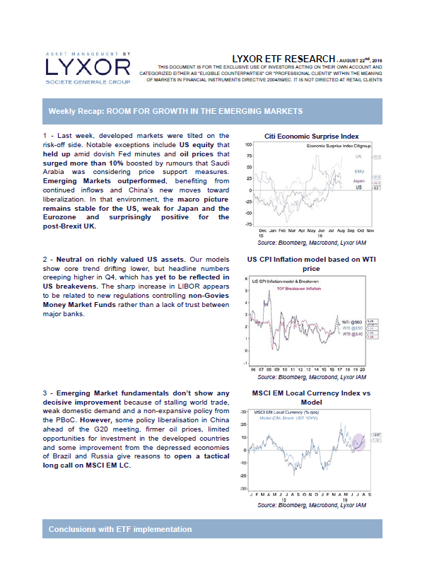 Weekly Recap: ROOM FOR GROWTH IN THE EMERGING MARKETS