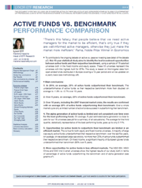 Marché & Recherche - Active Funds vs Benchmark : Performance Comparison